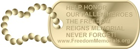 memorials gold dog tag photo