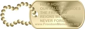 memorials gold dog tag photo