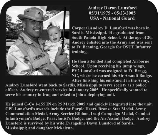 audrey-daron-lunsford-plaque-photo