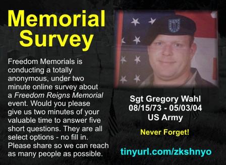 memorial survey link