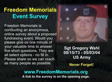 Freedom Memorials Online Survey